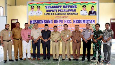 Arahan Bupati Pelalalawan dalam pembukaan Musrenbang RKPD Kecamatan Kerumutan